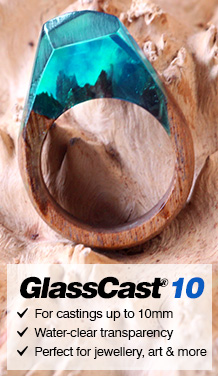 GlassCast 3 Clear Epoxy Coating Resin (Penny Floor, Bartop, Tabletop Resin)