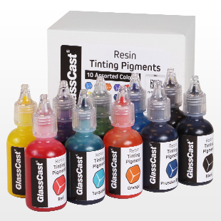 Translucent Tinting Pigments for Clear Casting Resin - 10 Colours ...