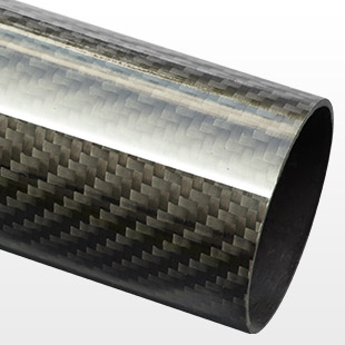 50mm 47mm 3k 2 2 Twill Woven Finish Carbon Fibre Tube