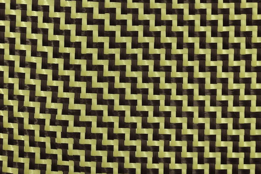 Carbon Kevlar Hybrid Fabric Cloth 2/2 Twill 1 2m Wide - Easy